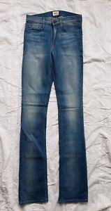 Taille X Mid Distressed Bleu 35 Hudson Long 25 Jeans droit Rise Femme naxq4p