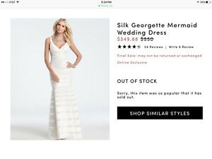 Ann Taylor Silk Georgette Mermaid Wedding Dress | eBay