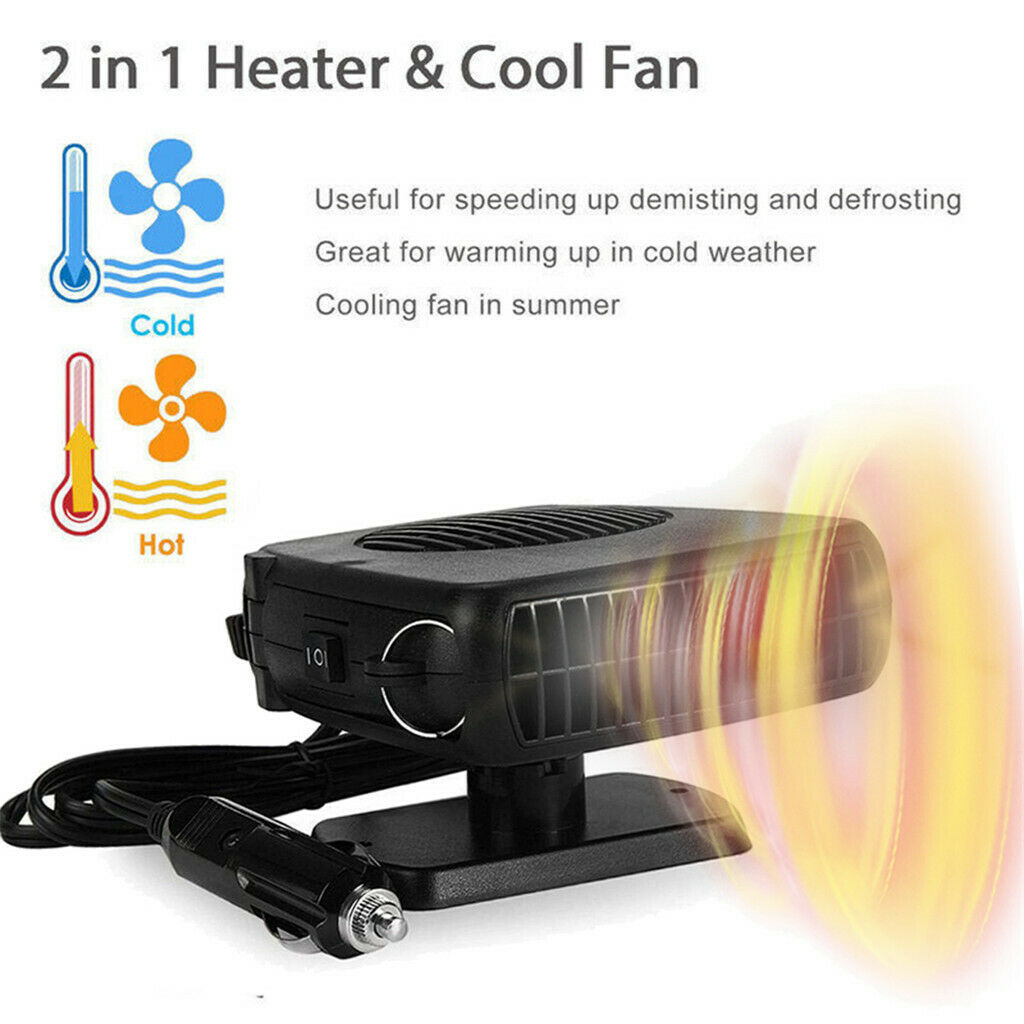 12V Auto Portable Electric Heater Fan Defroster