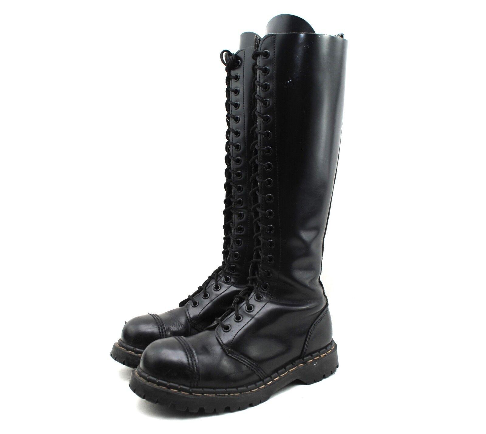 vendendo bene in tutto il mondo Vintage Vintage Vintage GRIPFAST nero Leather 20 Eye Steel Toe Knee stivali   US Donna  7  prezzi più bassi