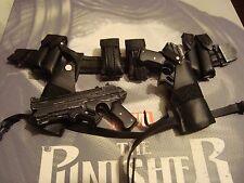 SIDESHOW 1/6 THE PUNISHER ----  belt w/ holsters  & pistols  -- US SELLER