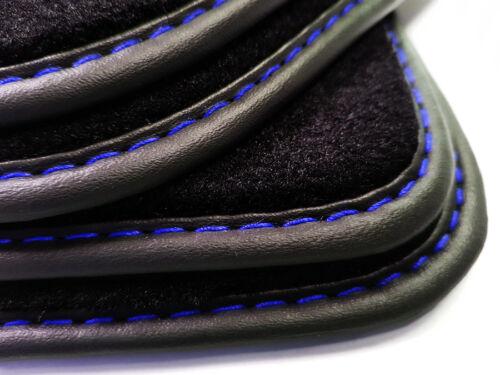 Neu ! Fußmatten VOLVO V40 Bj.05.2012 Hatchback Ziernaht Blau Velours Automatten