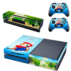 Calcomania-De-Consola-Xbox-One-Piel-Super-Mario-Bros-2x-cubierta-de-pegatinas-de-Controlador-Pad