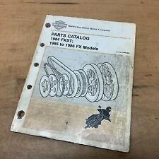 1984-1986 Harley Davidson FXST FX FLST Parts Manual 99455-86A