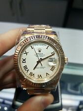 Rolex Day Date II 218235 Rose Gold 18k President Ivory White Roman