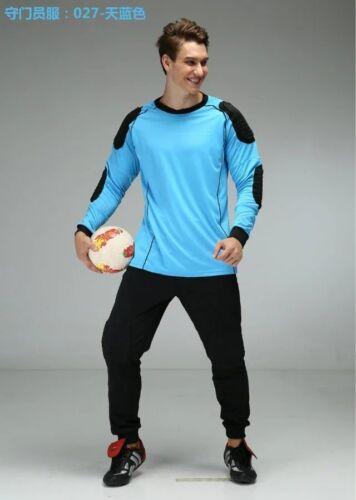 Soccer Goalie Goalkeeper Uniform Adult Sizes Long Sleeve Jersey /& Long Pants 027