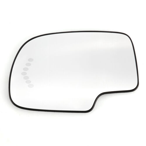 Driver Side LH Turn Signal Heated Mirror Glass For GMC Chevy Cadillac 2003-2007