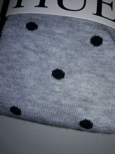 Hue Women/'S Gray Sweater Tights  Black Dotted U240141 Size S//M or M//L