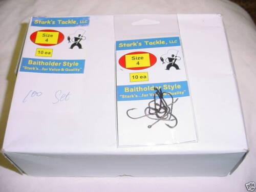 Stark/'s Baitholder Style Hooks 10 PK/'S of 10EA SZ 4