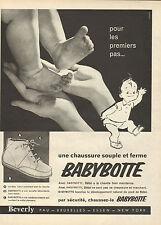 Publicité Advertising 1960  Babybotte chaussure bottine enfant souple et ferme