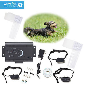 3-Dogs-Water-Resistant-Collar-Electric-Pet-Fence-Fencing-System