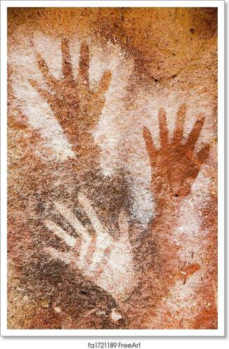 Poster Ancient Cave Paintings Art//Canvas Print Home Decor Wall Art