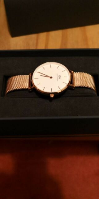 DANIEL WELLINGTON DW00100163 WOMENS WATCH ROSE GOLD PETITE 32MM - WITH TAGS