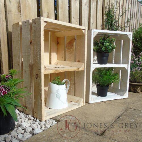 VINTAGE APPLE Crate fruits caisses BOISSEAU boîte de jardin en bois Planters avec étagère