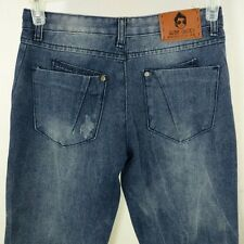 SSY Jeans Designer Slim Korean Distressed Womens Size S 28x28 EUC