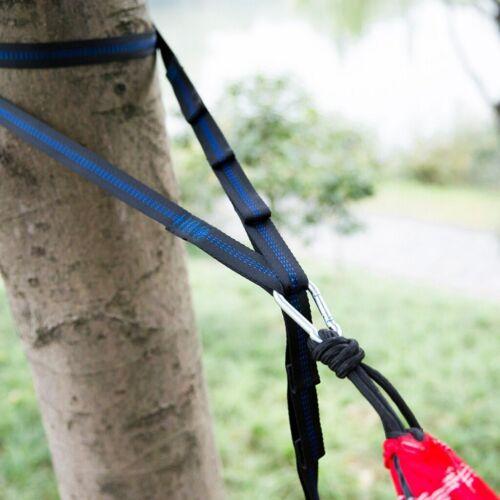 2X10ft Adjustable Tree Hanging Extension Hammock Straps Heavy Duty Suspension UK