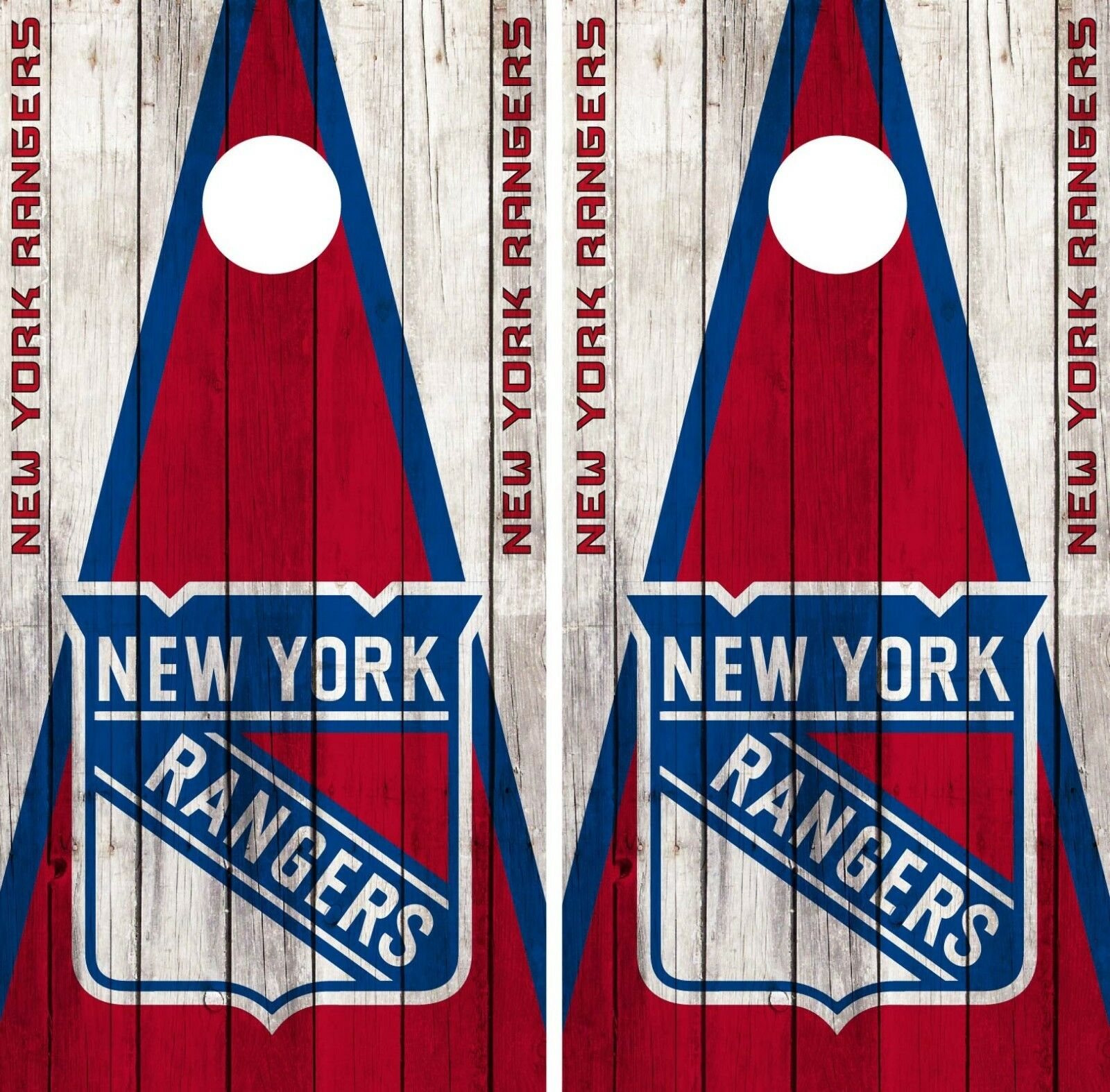 New York Rangers Cornhole Wrap NHL Wood Game Board Skin  Set Vinyl Decal CO247  cheap and high quality