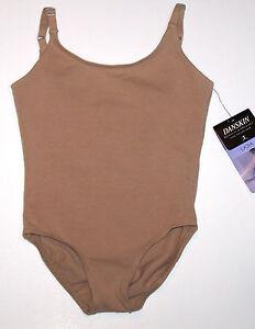 6419063e95 NWT New Danskin Leotard Leo Camisole Cami Dark Nude Cute Nice Girl S ...