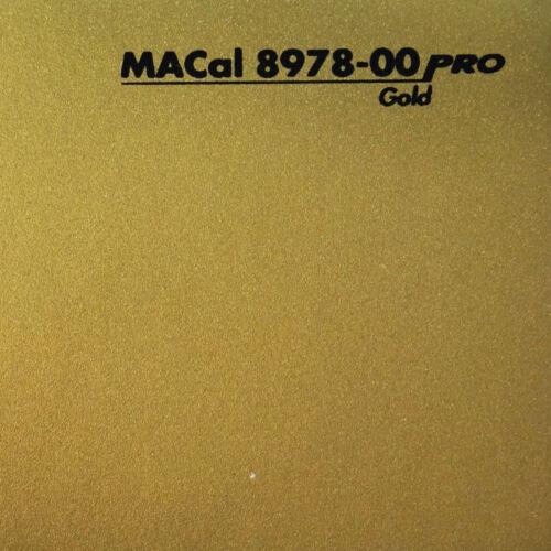 5,98 € //m 3 m Klebefolie Selbstklebefolie gold matt 61,5 cm