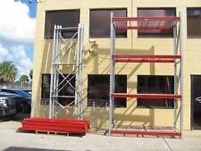4 Shelf Pallet Rack Kits 14 Foot Tall Industrial Shelving Heavy Duty Pallet Rack