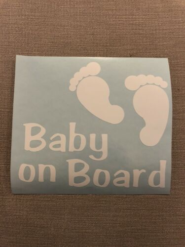 Baby On Board Car Window Vinyl Sticker