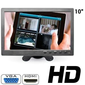 Monitor-10-1-Pollici-HD-LCD-Display-Led-TFT-VGA-AV-BNC-HDMI