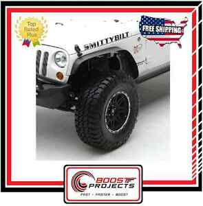 Smittybilt 76837 Front Rear XRC Set Of 4 Fender Flares For 07-15 JK Wrangler