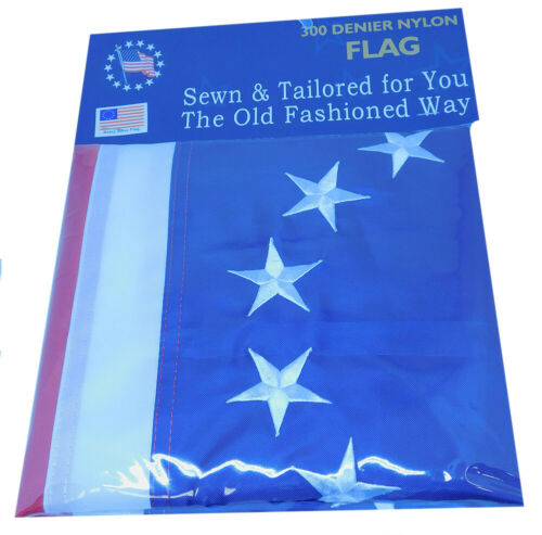 Betsy Ross 13 Star 3x5 3/'x5/' Premium 300D Nylon Embroidered Flag Grommets Clips