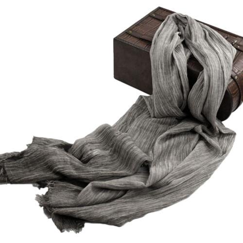 100/% Cotton Men/'s Fringed Scarf Wrap Plain Soft Fleece Long Scarves All Season