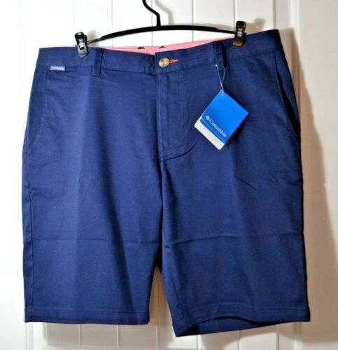 NWT MEN/'S COLUMBIA NAVY BLUE HARBORSIDE CHINO CARGO BERMUDA SHORTS SZ 34 36 40