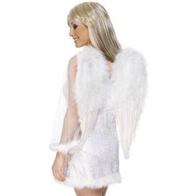 L Weiß Engel Flügel 50x60cm Feder Kostüm Zubehör üBerlegene Leistung