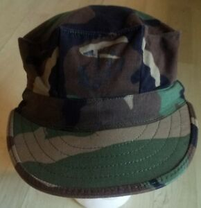 5f39387a90f Image is loading USMC-Cap-Utility-8-point-Woodland-Camouflage-Pattern-