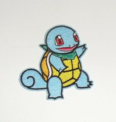 """Pokemon GO Squirtle Pikachu Turtle Embroidered Iron on Patches 3"""""""
