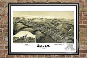 Old-Map-of-Salem-WV-from-1899-Vintage-West-Virginia-Art-Historic-Decor