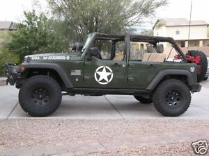Jeep Wrangler Military >> Jeep Wrangler Oscar Mike Military Star Vinyl Hood Decal Tj Lj Jk