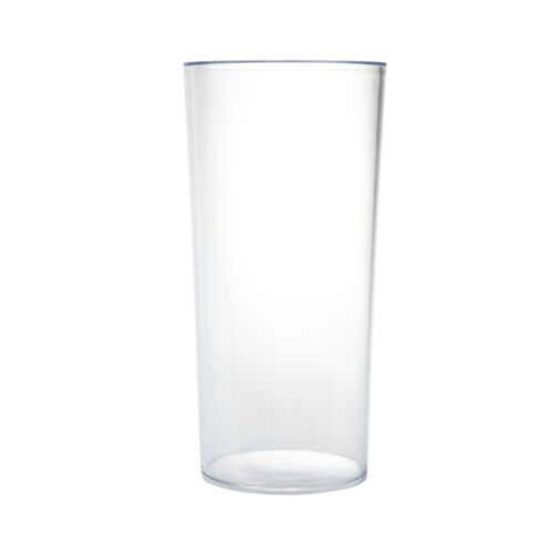 25cm Cylinder Vase Clear Acrylic Plastic Lightweight Durable Non Glass Container