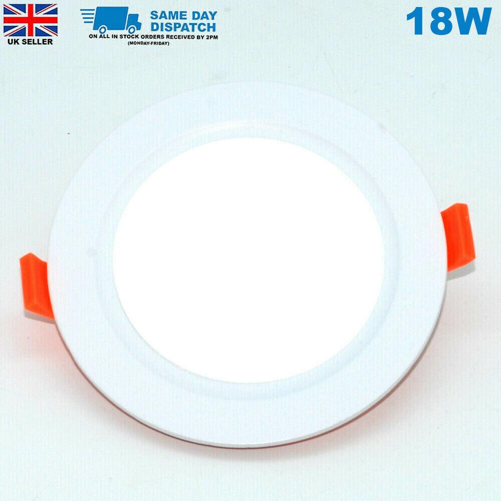 18W Round LED Recessed Ceiling Panel Cool Weiß UItra Slim cutGröße 210mm