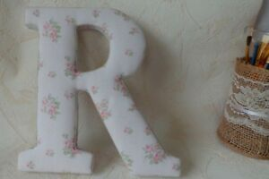Details About Wood Letter R Fabric Covered Wall Letters Nursery Decor Child Room