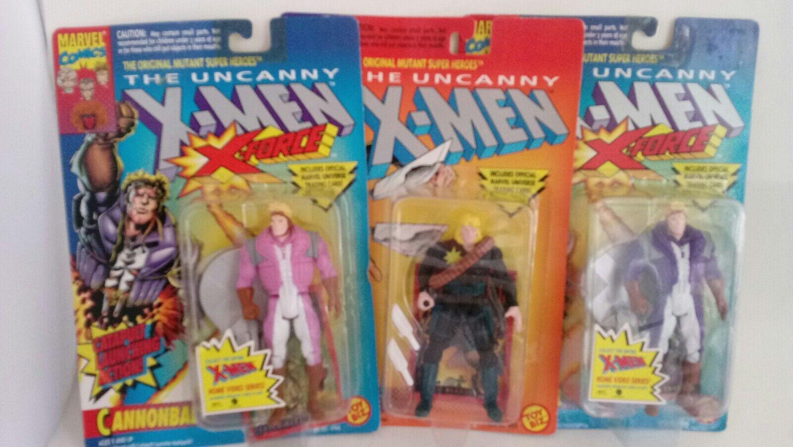NEW 3 Piece Set 1993 1993 1993 X-Men X Force Action Figures Cannonball Longshot 7d761e