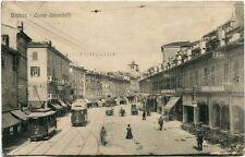 Primi '900 Breicia - Brescia Corso Zanardelli Tram Bigliardi Whurer FP B/N ANIM