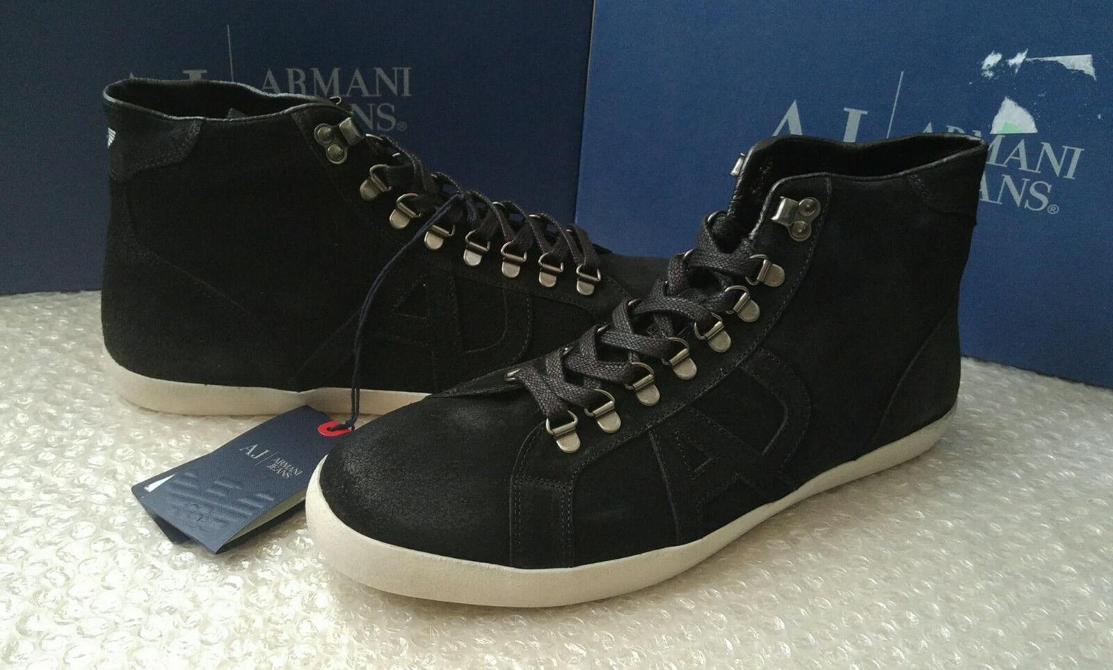 ARMANI Jeans Jeans Jeans Uomo Nero   Da Ginnastica Alte Top Taglia 9.5UK (44EU) 16fbfd