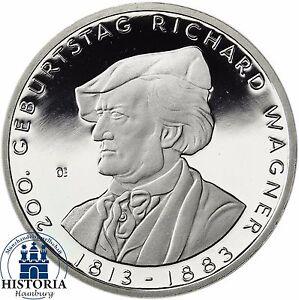 Deutschland-10-Euro-Richard-Wagner-Silber-Gedenkmuenze-2013-Spiegelglanz