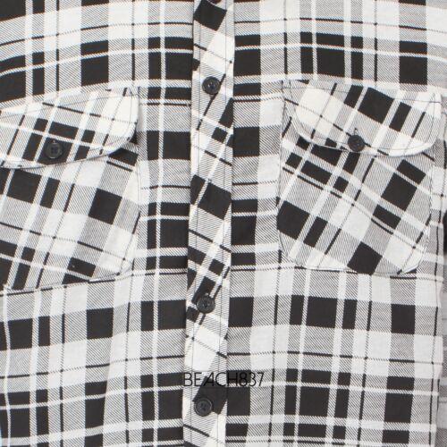 Herren Holz Jack Außen Gesteppt Gefüttert Kariert Hemd Jacke Größe 3XL 4XL 5XL