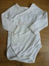 Petit Bateau***Body/Bodysuit  1 mois/54 cm Blanc et rouge