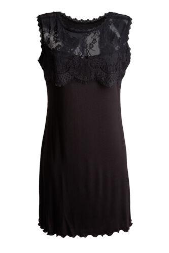 Edles Damen Negligee Nachthemd Unterrock Kleid Nadia 34 36 38 40 42 44 46