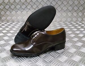 Genuine British Military Issue Womens Brown Leather Service Gibson Shoe - NEW