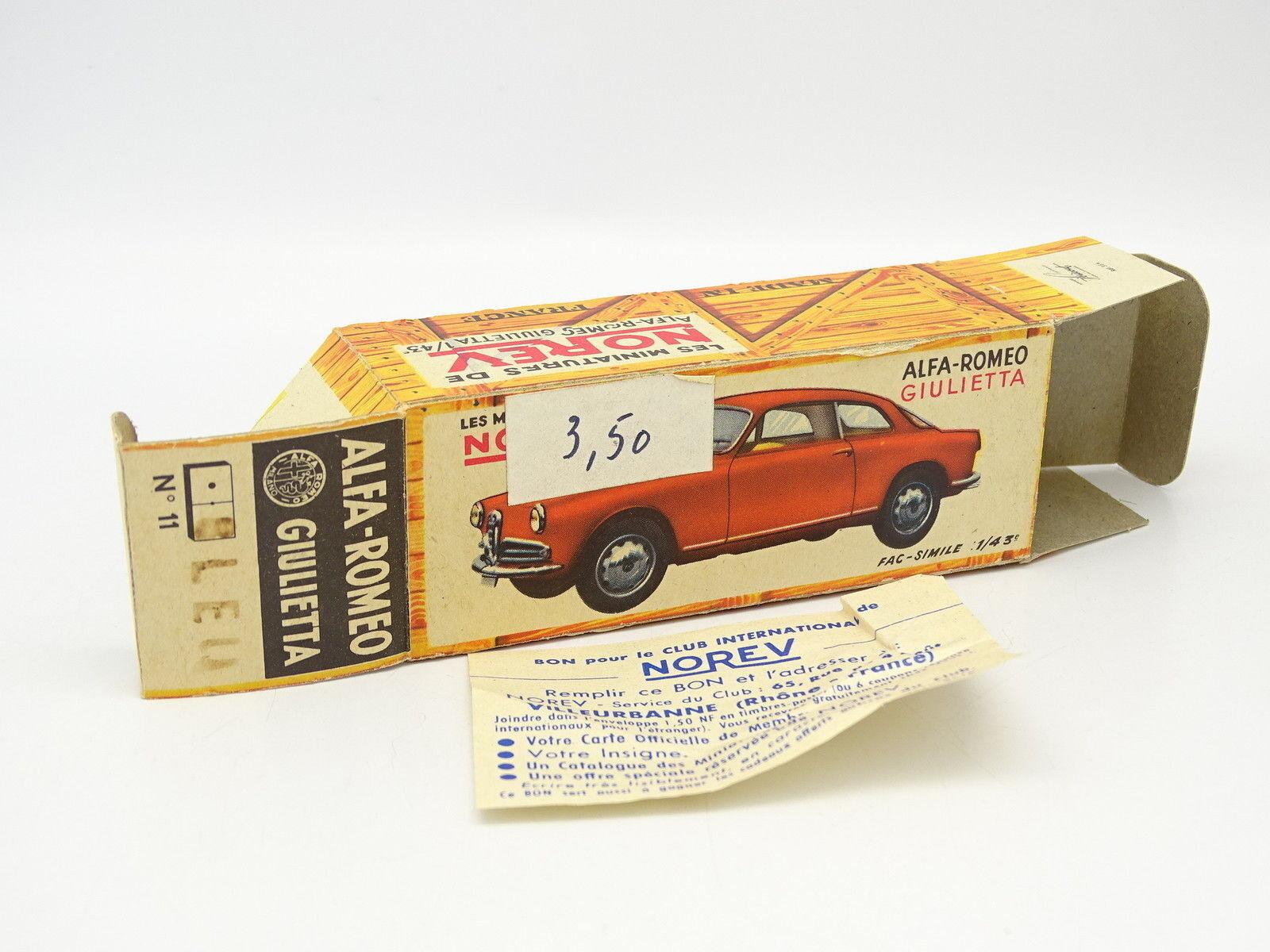 Norev 1 43 - Schachtel Leere Original Alfa Romeo Giulietta