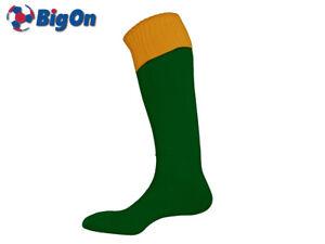 CLEARANCE NEW* BIGON - TURN OVER TOP FOOTBALL SOCKS - MENS 7-11 - BOTTLE/AMBER
