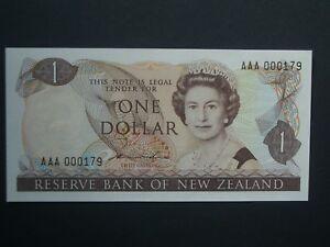 """*** 1981 1st Question V. Faible No. * $1 Crisp """"unc"""" Hardie Nouvelle-zélande Banknote ***-afficher Le Titre D'origine"""