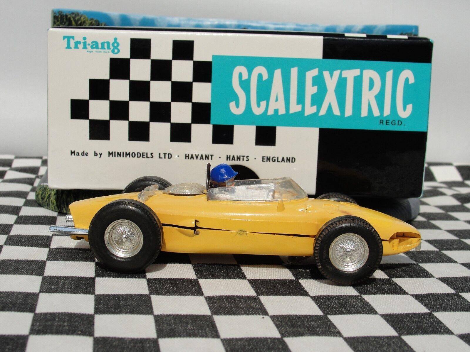 SCALEXTRIC 1960'S FERRARI  YELLOW  C62 1 32 SLOT USED BOXED